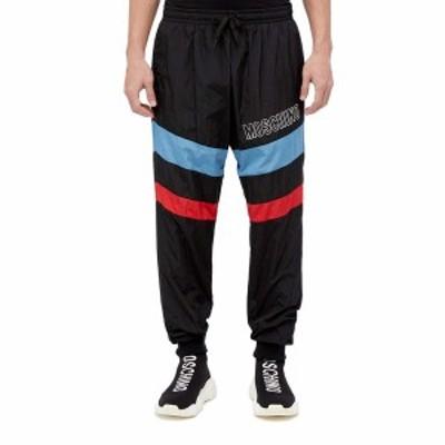 モスキーノ メンズ カジュアルパンツ ボトムス Stripe Detail Track Pants Black