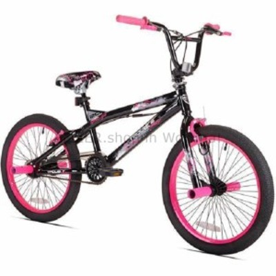 """BMX 20 """"ケントトラブルBMXガールズバイク、フリースタイルボーイズガールズ自転車スチールフレームピンク  20"""" Kent"""