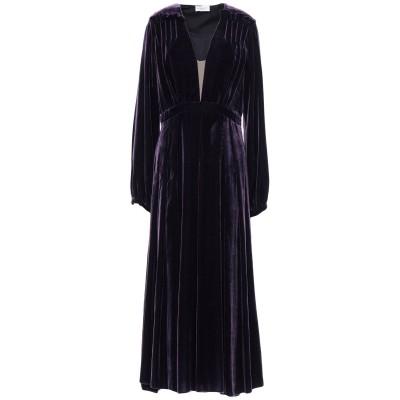 RAQUEL DINIZ 7分丈ワンピース・ドレス ダークパープル 40 シルク 100% 7分丈ワンピース・ドレス