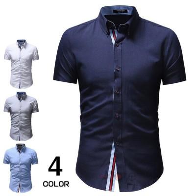 カジュアルシャツ メンズ 半袖シャツ ワイシャツ 40代 50代 開襟シャツ ファッション トップス 半袖 夏物