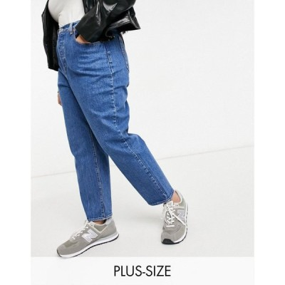 リーバイス Levi's Plus レディース ジーンズ・デニム ボトムス・パンツ Levi'S Plus Ribcage Straight Leg Ankle Grazer Jeans In Mid Wash Blue
