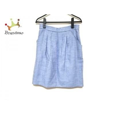 ジャスグリッティー スカート サイズ2 M レディース 美品 ネイビー×アイボリー リバーシブル       スペシャル特価 20200829