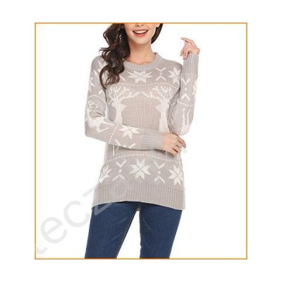 Zeagoo Women's Winter Thick Sweater Knit Open Front Cardigan Size S-XL Gray並行輸入品