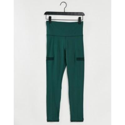 ナイキ レディース レギンス ボトムス Nike Yoga statement 7/8 leggings in green Green