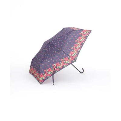 チェリー柄晴雨兼用折りたたみ傘 雨傘