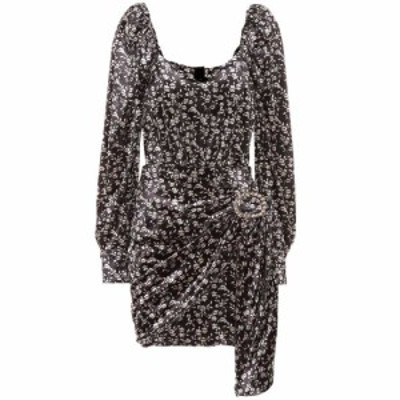 ドド バー オア Dodo Bar Or レディース ワンピース ワンピース・ドレス Embellished floral velvet minidress Roma Black