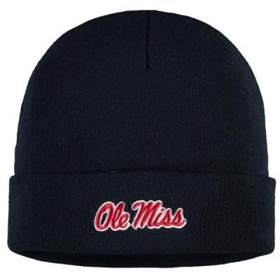 ユニセックス スポーツリーグ アメリカ大学スポーツ Ole Miss Rebels Russell Athletic Cuffed Knit Hat - Navy - OSFA 帽子
