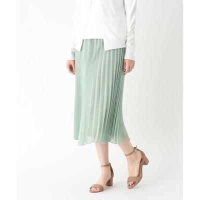 WORLD ONLINE STORE SELECT / シアーラメプリーツミモレスカート WOMEN スカート > スカート