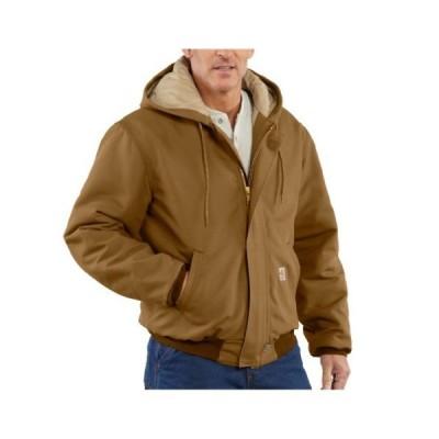 Carhartt Jackets 13 oz. Brown Cotton Duck Quilt Lined Active Jacket FRJ184BRN-3X Large Regular