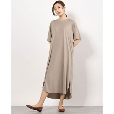コムサイズム COMME CA ISM Tシャツ ワンピース (ベージュ)