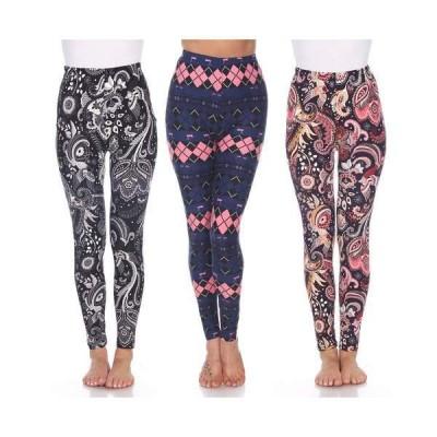 ホワイトマーク カジュアルパンツ ボトムス レディース Women's 3 Pack Leggings Set Pink