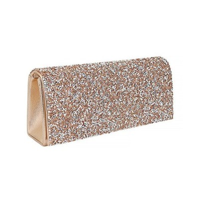 Naimo Bling Shiny Rhinestone Wedding Evening Party Clutch Handbag Purse (Champagne)【並行輸入品】