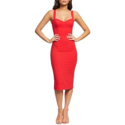 ドレスザポプレーション ワンピース トップス レディース Nicole Sweetheart Neck Cocktail Dress Rouge