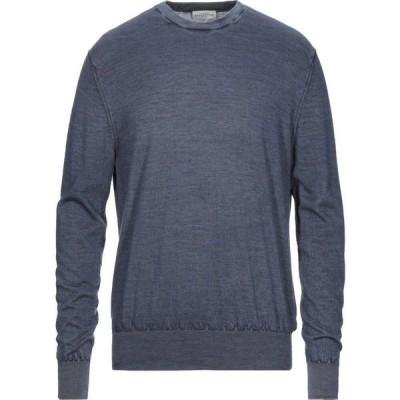 バランタイン BALLANTYNE メンズ ニット・セーター トップス cashmere blend Slate blue
