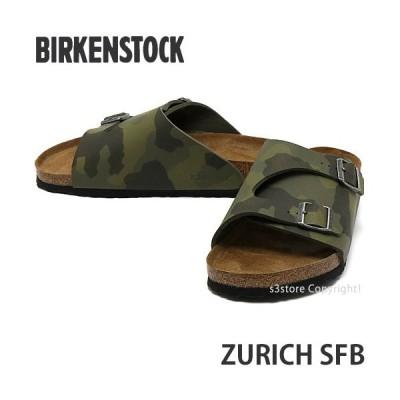 ビルケンシュトック チューリッヒ BIRKENSTOCK ZURICH SFB サンダル スライド ストラップ 靴 高品質 カラー:Desert Soil Camou Green
