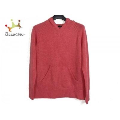 ルシェルブルー 長袖セーター サイズ40 M レディース - レッド クルーネック/フード  値下げ 20201128