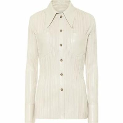 ナヌシュカ Nanushka レディース ブラウス・シャツ トップス Blaine Pleated Faux Leather Shirt Creme Pleat