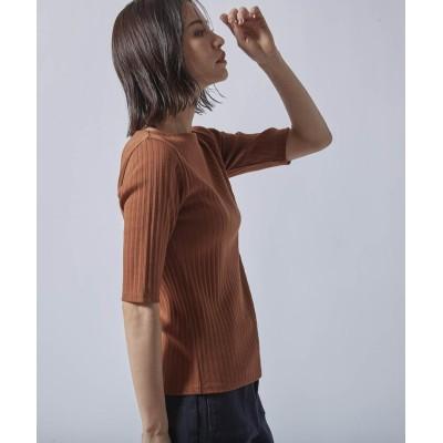 (LAUTREAMONT/ロートレアモン)《大草直子さんコラボ【OWN】4th Collection》ボートネックミニマル/レディース キャメル