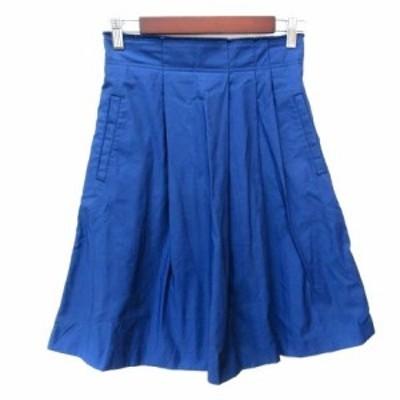 【中古】マカフィー MACPHEE トゥモローランド フレアスカート ミモレ ロング 36 青 ブルー /YI レディース