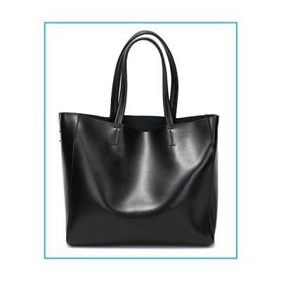 Covelin Women's Handbag Genuine Soft Leather Tote Shoulder Bag Hot Black【並行輸入品】