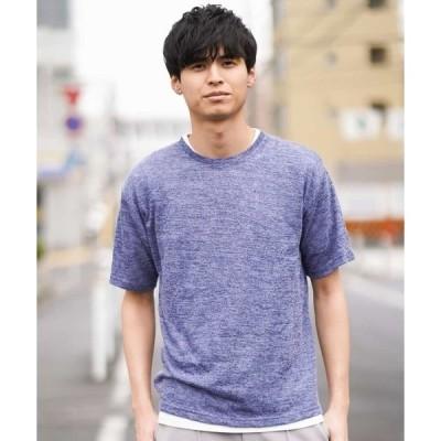 tシャツ Tシャツ メランジテンジクレイヤードカットソー[WEB限定サイズ]
