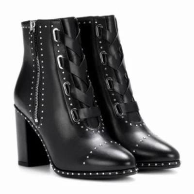 アクアズーラ ブーツ Guns & Roses 85 leather ankle boots Black