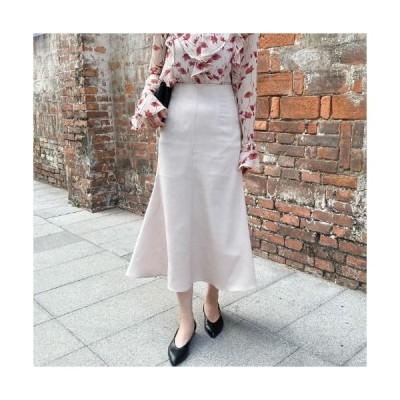 MINIBBONG レディース スカート Satin Mermaid Long Skirt-Black S Brown M Same day delivery