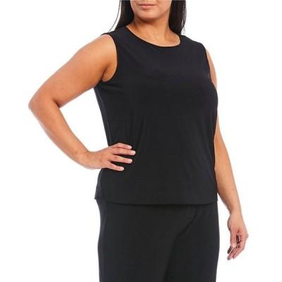 インベストメンツ レディース Tシャツ トップス Plus Size Soft Separates Sleeveless Top