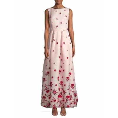 オスカーデラレンタ レディース ワンピース Embroidered Floral Gown