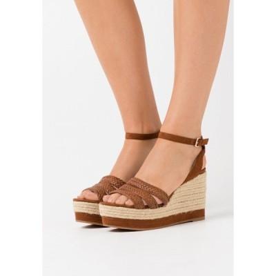 パルフォイス サンダル レディース シューズ High heeled sandals - camel