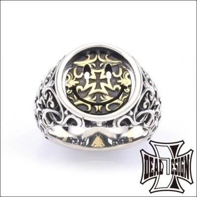 メーカー取り寄せ品 ナイトアンドデイカレッジ:ブラスコンビ シルバーリング 指輪 DEAL DESIGN ディールデザイン