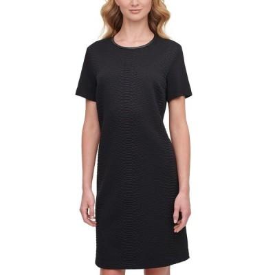 ダナ キャラン ニューヨーク ワンピース トップス レディース Textured Mini Dress Black