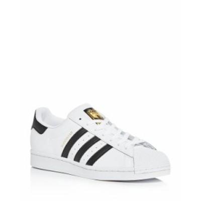 アディダス メンズ スニーカー シューズ Men's Superstar Low Top Sneakers White