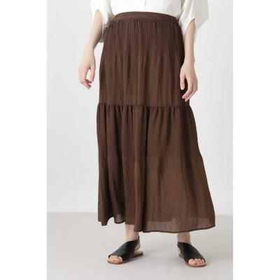 【ヒューマンウーマン/HUMAN WOMAN】 《arrive paris》プリーツティアードスカート