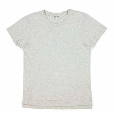 【中古】オーラリー AURALEE Tシャツ カットソー クルーネック 半袖 SEAMLESS CREW NECK TEE1 ライトグレー系 ◎7