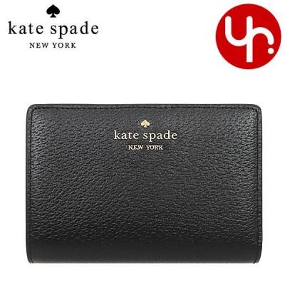 ケイトスペード kate spade 財布 二つ折り財布 WLRU5972 ブラック サム レザー ミディアム ビルフォード ウォレット アウトレット レディース