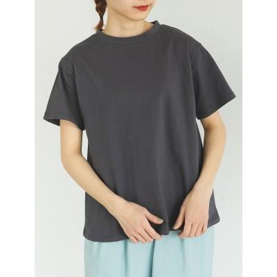 モックネックムジベーシックTシャツ