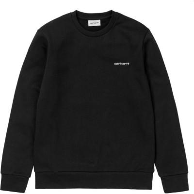 カーハート Carhartt WIP メンズ ニット・セーター トップス carhartt script embroidery sweater Black White