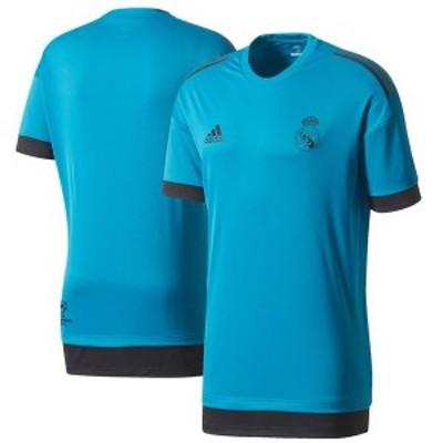 アディダス メンズ Tシャツ トップス Real Madrid adidas 2017/18 Training Jersey Teal