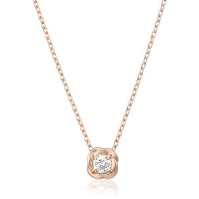 ウィスプ ダイヤモンド K10ピンクゴールド ペンダント ネックレス DPCWP21564 ピンク