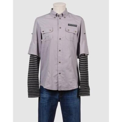 FRANKIE MORELLO 長袖シャツ ファッション  メンズファッション  トップス  シャツ、カジュアルシャツ  長袖 グレー