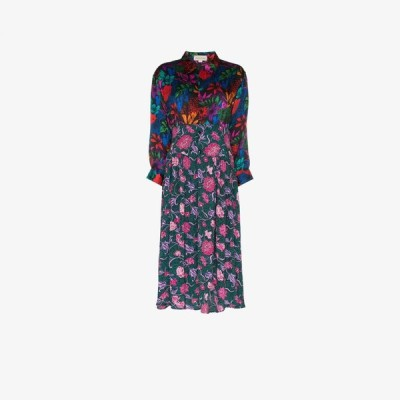 Rentrayage レディース ワンピース シャツワンピース ワンピース・ドレス Dragon Lady floral print shirt dress pink