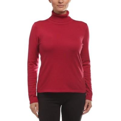 レディース 衣類 トップス August Silk Women's Long Sleeve Turtle Neck Top Star Ruby Medium Tシャツ