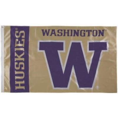 Marketing Results マーケティング リザルト スポーツ用品  Washington Huskies 3 x 5 Single-Sided Flag