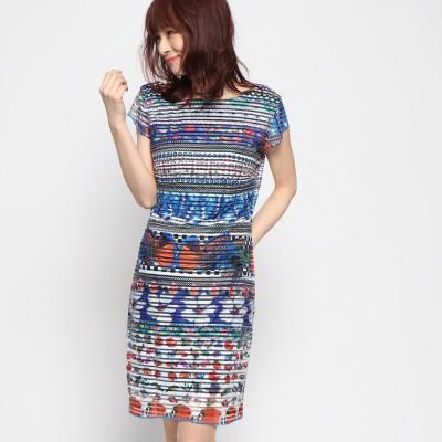 デシグアル Desigual ドレスショート袖 (ホワイト)