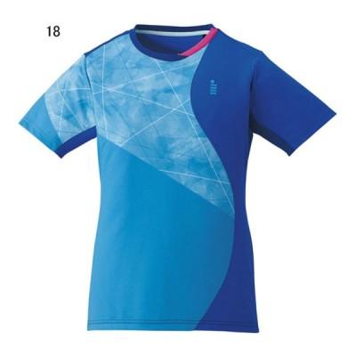 ゴーセン テニス ユニホーム ゲームシャツ レディース ゲームシャツ ターコイズブルー 18 GO-T1707-18