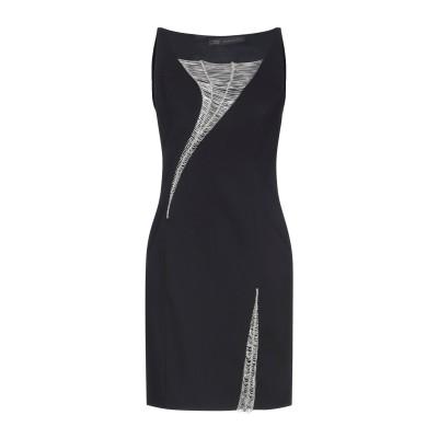 VERSACE ミニワンピース&ドレス ブラック 38 レーヨン 97% / ポリウレタン 3% ミニワンピース&ドレス