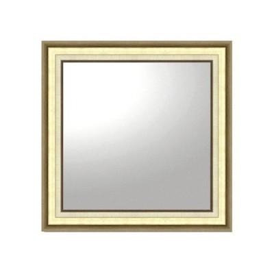壁掛け鏡 大型ミラー オフィス アンティーク 四角 壁掛けミラー 大型ミラー モダン 正方形(ゴールド)