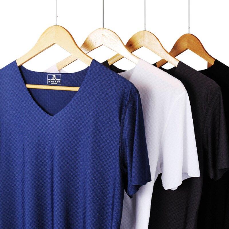 台灣現貨 高質感 涼感T恤 冰絲無痕短袖T恤 冰絲T恤 V領 短袖T恤 冰絲無痕 運動T恤 夏季T恤 排汗衣 卡司蒙