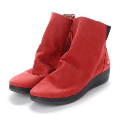 ヨーロッパコンフォートシューズ EU Comfort Shoes Softinos ショートブーツ(900.411) (レッド)
